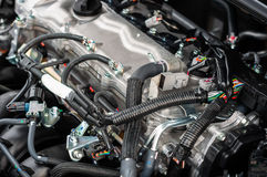 Closeup photo of a clean motor Royalty Free Stock Images