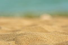 Closeup photo of clean sand Stock Image