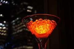 Closeup Photo of Clear Martini Glass stock images