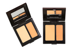Closeup photo of a concealer palettes in different shades Royalty Free Stock Image