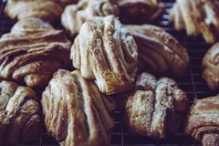 Closeup Photo of Croissant Breads Stock Images