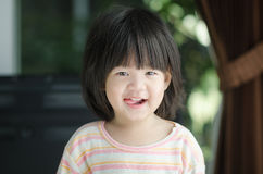 Closeup photo of cute asian baby Stock Photo