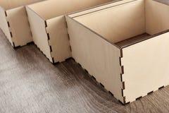 Elegant wooden boxes Stock Images