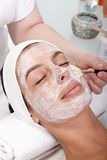 Closeup photo of facial beauty treatment Royalty Free Stock Image