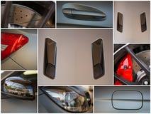 Closeup photo of grey car. Royalty Free Stock Image
