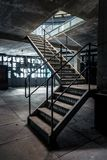 Closeup photo of industrial stairs Royalty Free Stock Photography