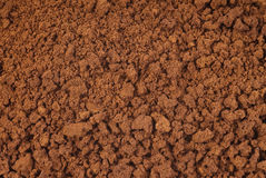 Closeup photo of instant coffee texture Stock Photos