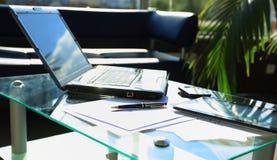 Closeup photo of laptop computer Stock Photography