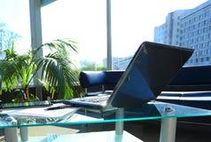 Closeup photo of laptop computer Stock Photos