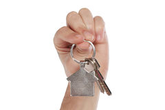 Closeup photo of mans hand holding keys Stock Image