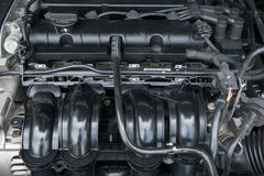 Closeup photo of a motor block Royalty Free Stock Images