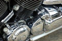 Closeup photo of motorbike Stock Photos