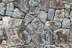 Natural Stacked Stone Wall Background royalty free stock photography