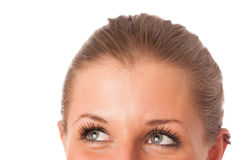 Closeup photo of a preety womans face Royalty Free Stock Photo