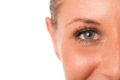 Closeup photo of a preety womans face Royalty Free Stock Image