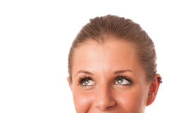 Closeup photo of a preety womans face Stock Photos