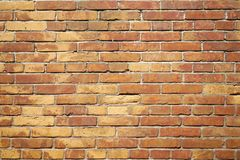 Background of red brick wall stock photography