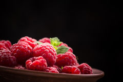 Red fresh raspberry Stock Photography