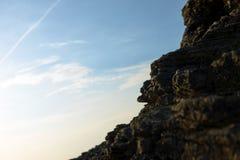 Closeup photo of rocks on the shore Stock Image