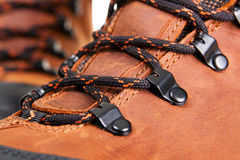 Closeup photo of shoelaces Royalty Free Stock Images