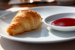Closeup Photo Of A Tasty Croissant Stock Image