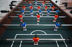 Closeup photo of toy football, kicker Stock Photo