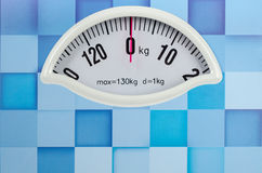 Closeup photo of weight scale showing zero Royalty Free Stock Photo