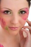 Closeup photo of woman face Royalty Free Stock Photography