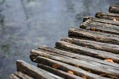 Closeup photo of wooden floor panels Stock Photo