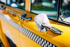 Closeup Photo of Yellow Taxi Royalty Free Stock Photography