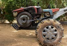Two-wheel tractor stock photo