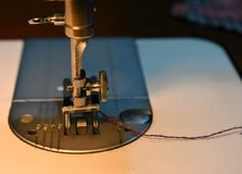 Sewing machine needle royalty free stock images