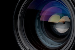 Closeup of a photographic camera lens Royalty Free Stock Image