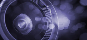 Closeup of a photographic lens Stock Photography
