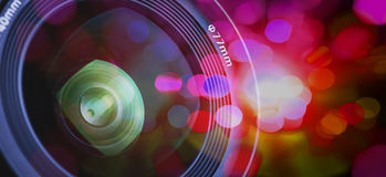 Closeup of a photographic lens Royalty Free Stock Photo
