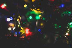 Closeup Photography of Christmas Bauble Hanging on Tree Royalty Free Stock Photography