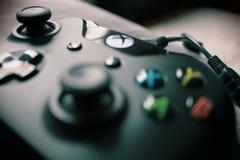 Closeup Photography Xbox One Black Controller Stock Photo