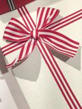 Closeup photo of a gift box stock images