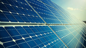 Closeup of photovoltaic solar panels Stock Image