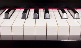 Closeup of Piano instrument Stock Photography
