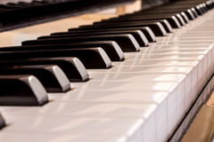 Closeup of a piano keyboard Stock Photography