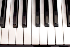 Closeup of a piano keyboard Royalty Free Stock Image