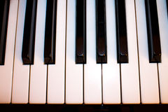 Closeup of a piano keyboard Stock Photo