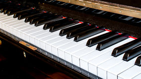Closeup of a piano keyboard Stock Images