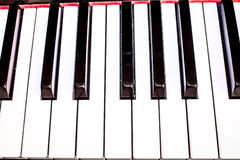 Closeup of a piano keyboard Royalty Free Stock Images