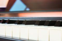 Closeup piano keyboard. Stock Images