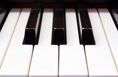 Closeup piano keyboard Royalty Free Stock Photography