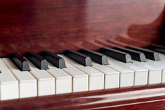 Closeup of Piano Keyboard Royalty Free Stock Photos