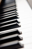 Closeup of Piano Keys Stock Image