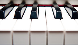 Closeup of piano keys. Closeup of black and white piano keys Royalty Free Stock Photo